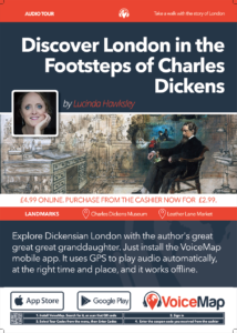 A3 poster for Charles Dickens from Furnival's Inn to Doughty Street