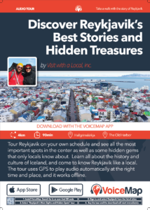 A3 poster for Reykjavik's Main Sights and Hidden Spots